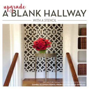 Upgrade A Blank Hallway With A Stencil