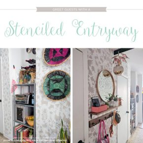 Greet Guests With A Stenciled Entryway