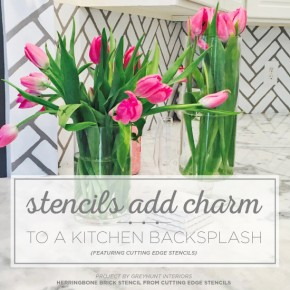 Stencils Add Charm To A Kitchen Backsplash