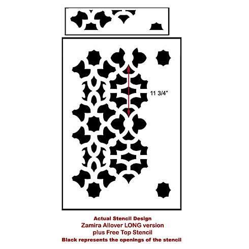 The Zamira Allover Stencil from Cutting Edge Stencils. http://www.cuttingedgestencils.com/moroccan-stencil-designs.html
