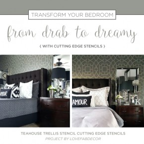 tea-house-trellis-stencil-diy-stenciled-master-bedroom-accent-wall