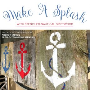 Cutting Edge Stencils shares easy DIY driftwood and reclaimed wood art ideas using beach decor stencils. http://www.cuttingedgestencils.com/beach-decor-stencils-designs-nautical.html