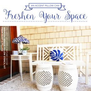 Cutting Edge Stencils shares how to freshen a space using DIY stenciled accent pillow kits to create custom pillows. http://www.cuttingedgestencils.com/accent-pillow-stencil-kits.html