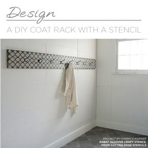 Design A DIY Coat Rack With A Stencil