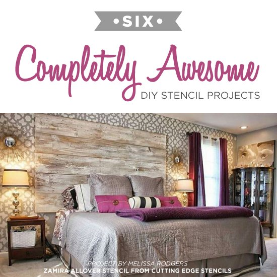 Six Completely Awesome DIY Stencil Projects on inexpensive lighting ideas, inexpensive bedroom flooring ideas, inexpensive window covering ideas, inexpensive bedroom furniture, hipster bedroom ideas, affordable bedroom ideas, cheap bedroom ideas, inexpensive kitchen ideas, bedroom paint ideas, inexpensive master bedroom ideas, inexpensive bedroom storage ideas, inexpensive wall decor ideas, inexpensive girls bedroom ideas, inexpensive living room ideas, inexpensive bedroom organization, inexpensive guest bedroom ideas, inexpensive bedroom bedding, inexpensive home ideas, inexpensive furniture ideas, inexpensive interior door ideas,