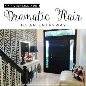 A Stencil Pattern Adds Dramatic Flair To An Entryway