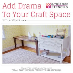Add Drama To Your Craft Space With A Stencil