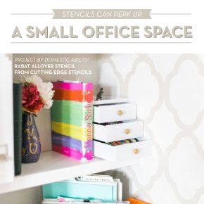 Stencils Can Perk Up A Small Office Space