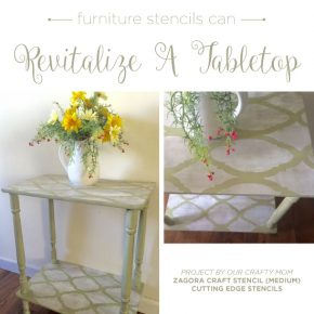 Furniture Stencils Can Revitalize A Tabletop