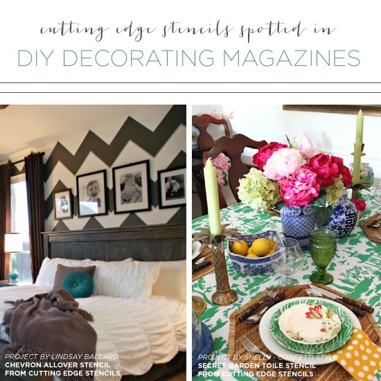 Cutting edge stencils spotted in diy decorating magazines cutting edge stencils was featured in home decorating magazines using our allover stencils to for diy solutioingenieria Gallery