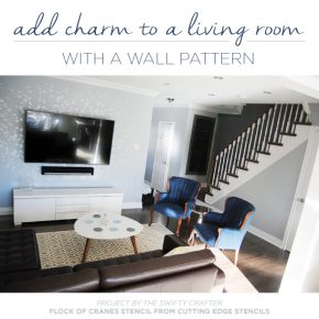 Add Charm To A Living Room With A Wall Pattern