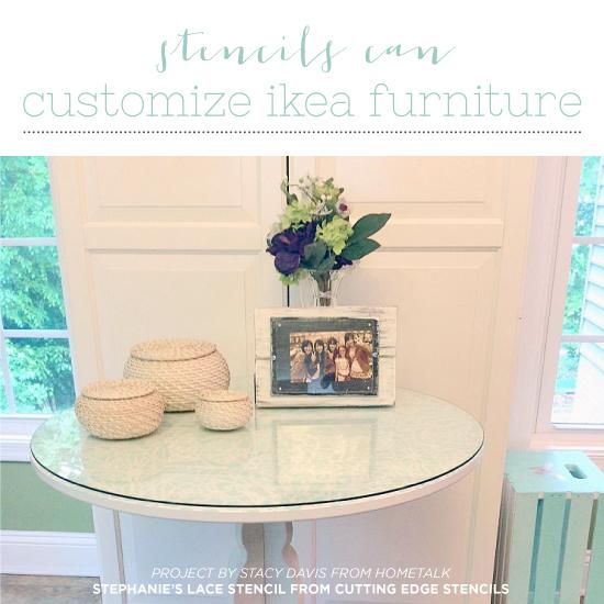 ikea furniture diy. Stencils Can Customize Ikea Furniture - Stencil Stories Diy