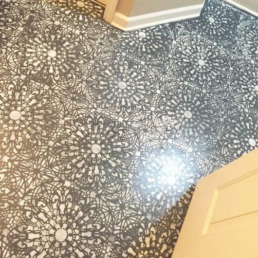 Stencils Can Revamp A Bathroom Floor Stencil Stories