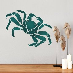 Crab Wall Art Stencil from Cutting Edge Stencils. http://www.cuttingedgestencils.com/crab-stencil-design-nautical-stencils-beach-decor.html