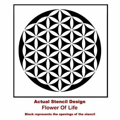 Flower of Life Mandala Stencil from Cutting Edge Stencils. http://www.cuttingedgestencils.com/flower-of-life-mandala-stencil-yoga-design.html
