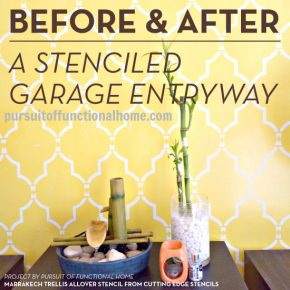 Before and After: A Stenciled Garage Entryway