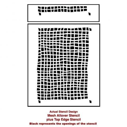 The Mesh Allover Stencil, a popular geometric wall pattern, from Cutting Edge Stencils. http://www.cuttingedgestencils.com/mesh-contemporary-stencil-grid-pattern.html