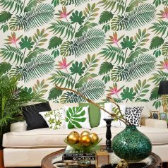 The Tropical Dreams Allover Stencil from Cutting Edge Stencils features beautiful palm leaves and tropical foliage perfect for an accent wall. http://www.cuttingedgestencils.com/tropical-foilage-stencil-wall-pattern-palm-leaf-stencil-deisgn.html
