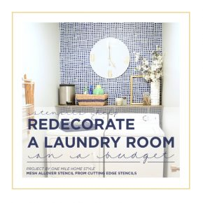 Stencils Help Redecorate A Laundry Room On A Budget