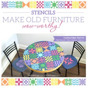 Stencils Make Old Furniture Wow-Worthy!