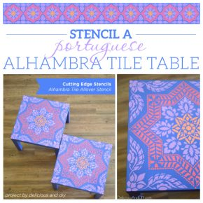 Stencil A Portuguese Alhambra Tile Table