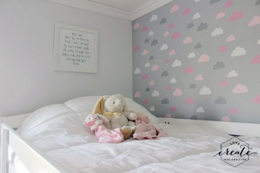 On Cloud Nine With A Stenciled Girl\'s Bedroom - Stencil Stories ...
