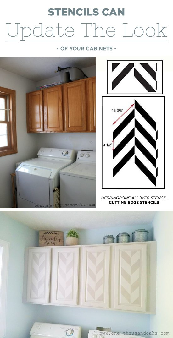Stencils Can Update The Look Of Your Cabinets on cute ideas, laundry design ideas, game room home ideas, home dressing room ideas, home bar room ideas, home printing room ideas, home store room ideas, home coffee shop room ideas, home pool room ideas, home tv room ideas, home sauna room ideas, built in room ideas, home lounge room ideas, home storage room ideas, home family room ideas, home library room ideas, home gym room ideas, home recreation room ideas, home laundry accessories,