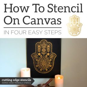 How To Stencil On Canvas In Four Easy Steps
