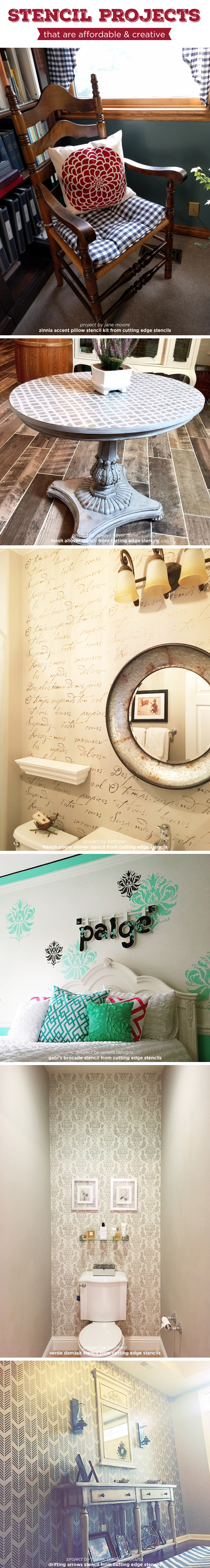 Cutting Edge Stencils shares DIY home decorating ideas using wall and craft stencil patterns. http://www.cuttingedgestencils.com/wall-stencils-stencil-designs.html