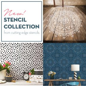 Cutting Edge Stencils releases a NEW stencil collection including Mandalas, tile patterns, and dalmatian spots. http://www.cuttingedgestencils.com/wall-stencils-stencil-designs.html