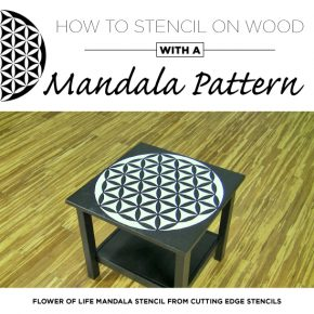 Cutting Edge Stencils shares a video tutorial on how to stencil on wood using a new Mandala Stencil pattern. http://www.cuttingedgestencils.com/flower-of-life-mandala-stencil-yoga-design.html
