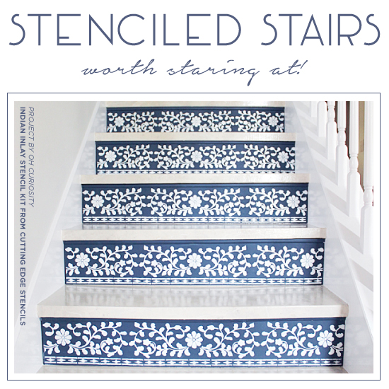 Stenciled Stairs Worth Staring At!
