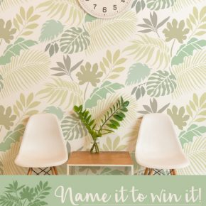 Help Cutting Edge Stencils name this new wall stencil pattern for a chance to win the stencil FREE!