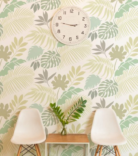 Cutting Edge Stencils Name it to Win it! Win this tropical foliage allover wall stencil pattern if we select your name. http://www.cuttingedgestencils.com/blog/name-it-to-win-it-a-tropical-foliage-stencil.html