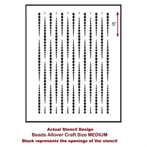 The Beads Craft Stencil, a geometric pattern, from Cutting Edge Stencils. http://www.cuttingedgestencils.com/beads-craft-stencils-DIY-home-decor.html