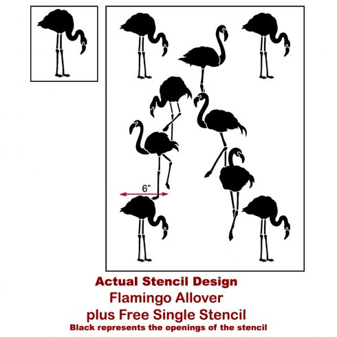The Flamingo Allover Stencil, a popular wall pattern that mimics tropical wallpaper, from Cutting Edge Stencils. http://www.cuttingedgestencils.com/flamingo-stencil-wallpaper-flamingos-stencil-pattern.html