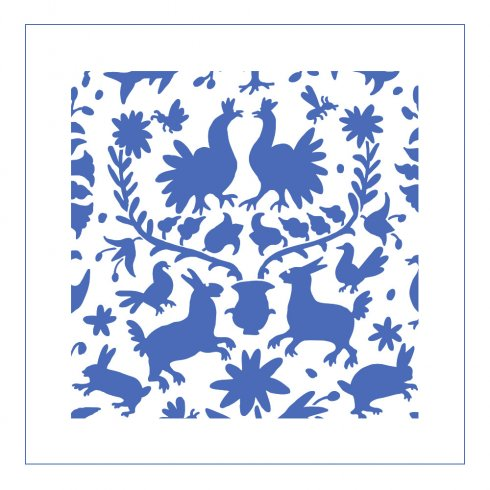 The Otomi Pillow and Tote Stencil from Cutting Edge Stencils. http://www.cuttingedgestencils.com/otomi-stencil-for-pillow-kit.html