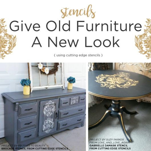 Cutting Edge Stencils Shares Two DIY Painted And Stenciled Furniture  Projects Using Damask Stencil Patterns.