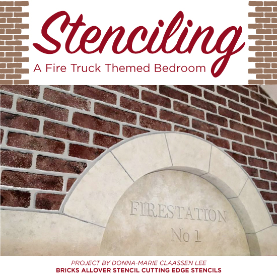 stenciling a fire truck themed bedroom stencil stories stencil