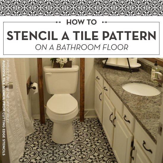 cutting bathroom tiles how to stencil a tile pattern on a bathroom floor 12614