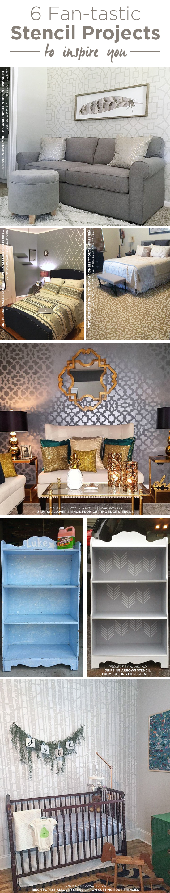 6 fan tastic stencil projects to inspire you stencil stories cutting edge stencils shares diy home decorating ideas spotted on instagram using wall and craft stencil amipublicfo Image collections