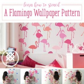Learn How To Stencil A Flamingo Wallpaper Pattern