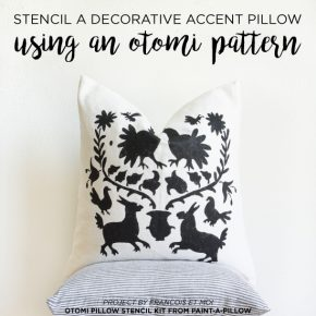Stencil A Decorative Accent Pillow Using An Otomi Pattern