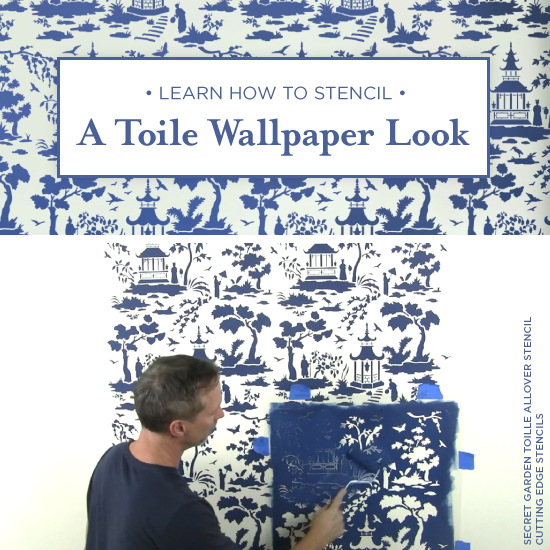 Learn How To Stencil A Toile Wallpaper Look