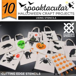 10 Spooktacular Halloween Craft Projects Using Stencils