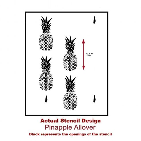 The Pineapple Allover Stencil from Cutting Edge Stencils. http://www.cuttingedgestencils.com/pineapple-fruit-allover-stencil-pattern-design.html