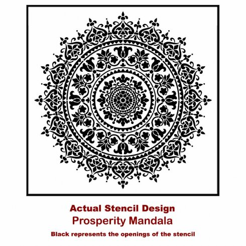The Prosperity Mandala Stencil from Cutting Edge Stencils. http://www.cuttingedgestencils.com/prosperity-mandala-stencil-yoga-mandala-stencils-designs.html