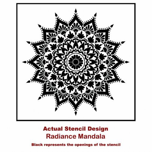 The Radiance Mandala Stencil from Cutting Edge Stencils. http://www.cuttingedgestencils.com/radiance-mandala-stencil-yoga-mandala-stencils-decal.html