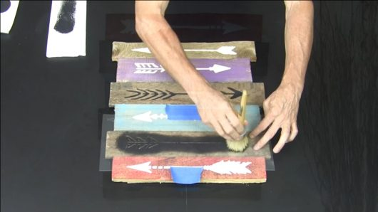 A tutorial to learn how to craft DIY art using a wood pallet and the 10 piece Arrow Stencil kit from Cutting Edge Stencils. http://www.cuttingedgestencils.com/arrow-stencil-kit-diy-home-decor.html