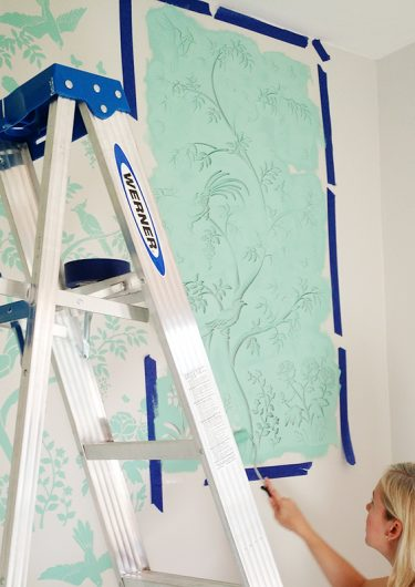 Learn how to stencil an accent wall using the Chinoiserie Birds and Berries Wall Mural Panel from Cutting Edge Stencils for a wallpaper look. http://www.cuttingedgestencils.com/chinoiserie-stencil-mural-wall-design-wallpaper.html